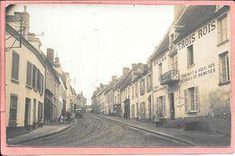 Remalard - Carte Photo Rue Des Moulins Hotel Des Trois Rois Parfait état - Remalard