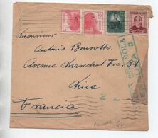 1938 - ENVELOPPE Avec CENSURE / CENSURA REPUBLICA ESPANOLA Pour NICE - 1931-50 Briefe U. Dokumente