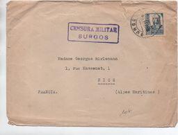 1939 ? - ENVELOPPE Avec CENSURE / CENSURA MILITAR BURGOS - 1931-50 Briefe U. Dokumente
