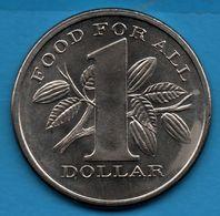 TRINIDAD AND TOBAGO 1 DOLLAR 1969 FAO KM# 6 FOOD FOR ALL - Trinidad En Tobago