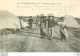 44 LE BOURG-DE-BATZ. Retour Du Travail Au Marais Salant - Batz-sur-Mer (Bourg De B.)