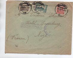 1937 - ENVELOPPE De VALLADOLID Avec CENSURE / CENSURA / CENSURADO Pour NICE - 1931-50 Briefe U. Dokumente