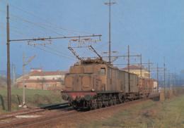 CPA - Mombaruzzo - Locomotiva Electtrica Trifase F.S.E. 554.072 Con Treno Merci Acqui T. Asti In Transito A Mombaruzzo - Otras Ciudades