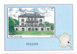 CPM 10.5 X 15  Isère TULLINS La Mairie  Hôtel De Ville Avec Carte De France  Dessin D'Yves Ducourtioux - Tullins