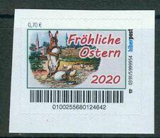 Biber Post Fröhliche Ostern 2020 (Hase Mit Küken) (70) G1028 - Private & Local Mails