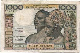 Afrique De L'Ouest- ( Cote D'Ivoire ) 1000 Frs  ( Signature 9 ) - Cat World N° 603 H    Circulés - Altri – Africa