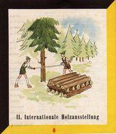 TRIESTE, II. INTERNATIONALE HOLZAUSSTELLUNG, 1953, AUSSTELLUNG, EXHIBITION, DIM. 12X14 CM - Pubblicitari