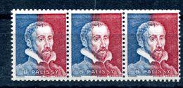 Palissy Bicolore Bleu Et Rouge Neuf Xxx Yvert Pa 28 - Cote 20 X 3 - T 1010 - Cours D'Instruction