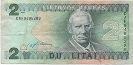 Lituanie Lithuania : 2 Litai 1993 - Lituanie