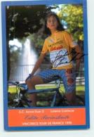 Edita PUCINSKAITE, Vainqueur Tour De France 1998, Autographe Manuscrit, Dédicace . 2 Scans. Cyclisme Féminin. Acca Due - Cycling