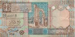 Libye Libya : 1/4 Dinar (bon état) - Libia