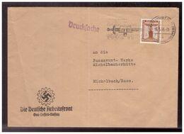 Dt.- Reich (020063) Propaganda Vorgedruckter Brief Die Deutsche Arbeitsfront, Gau Hessen- Nassau, Gelaufen Frankfurt - Germany
