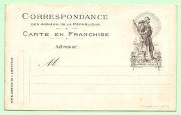 CP FM Correspondance Des Armées Editions Farges  Lyon Mle 50  (pas Courante) - Cartes De Franchise Militaire