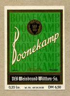 Etiquette Label Germany Wilthen Deutscher Beinbrand Boonekamp - Whisky