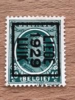 200B Liège 1929 Luik Préo Grasse TB Peu Fréquent - Typos 1922-31 (Houyoux)