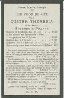 BP Buysse Stephanie (Sleidinge 1846 - 1913) (zuster Theresia) - Alte Papiere