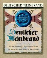 Etiquette Label Germany Hanau Deutscher Weinbrand - Whisky