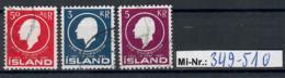 Island Mi-Nr.:  349-51 Jon Sigurdsson 1961 Sauber Gestempelter Satz - 1944-... Republique
