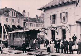 Schweizer Eisenbahn, Chemin De Fer Allaman Aubonne Gimel, Train En Gare D'Aubonne, Photo Retirage BVA AAG 9 - VD Vaud