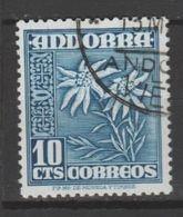 ANDORRA CORREO  ESPAÑOL Nº 43C. C. M. ABAD USADO  (S.1.B) - Andorra Española
