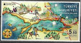 TURKEY, 2020, MNH,EUROPA, ANCIENT POSTAL ROUTES,HORSES, SHIPS, 1v - Europa-CEPT