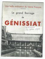 """DEP. 01 Brochure """"LE GRAND BARRAGE DE GENISSIAT"""", Ed. Michaux Et Fils, Imp. SADAG - Rhône-Alpes"""