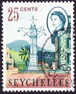 SEYCHELLES 1968 QEII 25 Cents Multicoloured SG200 FU - Seychelles (...-1976)