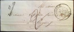 Courrier De 1847, Exp Payzac (Lanouaille, Excideuil), Dest - Périgueux (24 - Dordogne), Cachet  Bureau 23 (21/11/1847) - Storia Postale