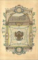 VISITE DU TSAR DE RUSSIE A COMPIEGNE .20/09/1901 .EMILE LOUBET  + ENVELOPPE POUR LE MENU . SUPERBE - Menus
