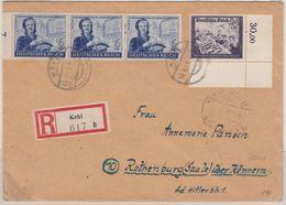 DR - 3x6+24 Pfg. (Bogenecke) Reichspost, Einschreibebrief Kehl - Rothenburg 1944 - Alemania