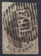 """Médaillon - N°10A Margé + BDF Obl P162 """"Tamines"""" - 1858-1862 Medallions (9/12)"""