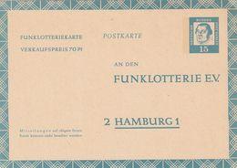 Berlin / 1963 / Funklotterie-Postkarte Mi. FP 7 ** (CC76) - Postcards - Mint