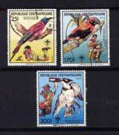 CENTRAFRICAINE - 792/794° - FAUNE ET SCOUTISME - Repubblica Centroafricana