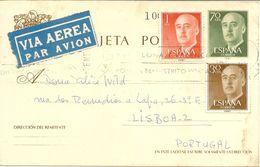 España Carta/Tarjeta Postal  Circulada  Ávila-Lisboa  1969  NL457 - 1931-....