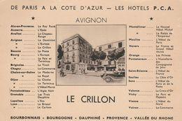 CPSM 84  AVIGNON HOTEL LE CRILLON - Avignon