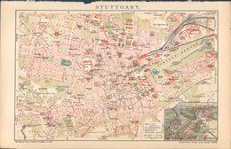 KD5103 - Stich Druck - 1903 - Map Karte Stuttgart - Stampe & Incisioni