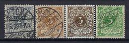 ALLEMAGNE 1889: Les Y&T 44-46, Oblitérés CAD - Gebruikt