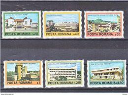 ROUMANIE 1979 ARCHITECTURE Yvert 3175-3180 NEUF** MNH - 1948-.... Republiken