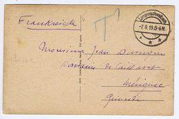 ALLEMAGNE - Cachet Manuel LANGENSCHWALBACH Du -7. 8. 19 - Postmark Collection (Covers)