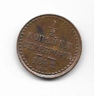 Un Demi Kopek   - Russie 1842 - Russland