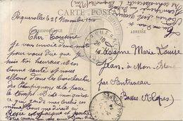 PORQUEROLLES . ARRIVEE DU COURRIER . + CACHET DEPOT CONVALESCENTS - Storia Postale