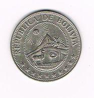 &   BOLIVIA 50 CENTAVOS  1965 - Bolivia