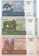 Madagascar : Série De 3 Billets 2004 (très Bon état) - Madagascar