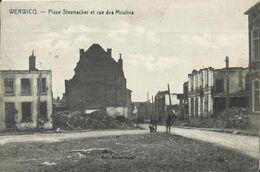 Wervik - Wervicq Werwicq - Place Steenacker Et Rue Des Moulins 1919 - Wervik