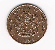 &  NIGERIA  1 KOBO  1974 - Nigeria