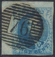 """Médaillon - N°11A (Pl III) Coin De Feuille Obl P76 """"Louvain"""". Superbe Frappe ! - 1858-1862 Medallions (9/12)"""