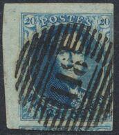 """Médaillon - N°7 Margé, Coin De Feuille + Voisin Obl P118 """"Tirlemont"""". Superbe ! - 1851-1857 Medaillen (6/8)"""