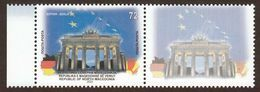 North Macedonia 2020 European Union Europa Capitols Berlin Brandenburg Gate Brandenburger Tor Germany Flags + Label MNH - Macedonia