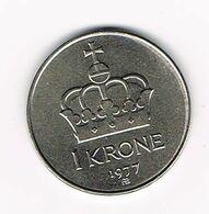 &   NOORWEGEN  1 KRONE 1977 - Norwegen