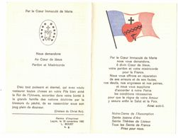 PAR LE COEUR IMMACULE DE MARIE ASSOMPTION JEANNE D'ARC THERESE IMAGE PIEUSE RELIGIEUSE HOLY CARD SANTINI HEILIG PRENTJE - Andachtsbilder
